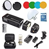 Godox AD200 Nuevo 2.4G TTL Bolsillo Flash 200Ws TTL HSS 1 / 8000s Flash con 2900mAh Litio Batería + AD-S11+AD-S2+AD-17+ AD-15