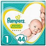 Pampers New Baby Livelli di protezione Premium Dimensione pannolini (2-5 kg), Confezione da 2 pacchi (2x44 pezzi)