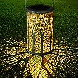 LED Lanterna Solare, GolWof Lampada da Giardino Luci Solari Sospensione Disegno marocchino IP44 Impermeabile…