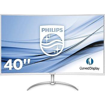 "Philips BDM4037UW Monitor Curvo da 40"", 4K UHD 3840 x 2160, LED VA, Multiview (PiP, PbP), Audio Integrato, 2 HDMI, 2 Display Port, VGA, USB, Vesa"