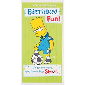Bart Simpson Birthday Card Amazon Toys Games