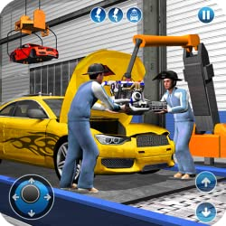 Sports Car Maker Factory 2018: Luxury Car Mechanic Simulator & Vehicle Test Drive Games Free for Kids
