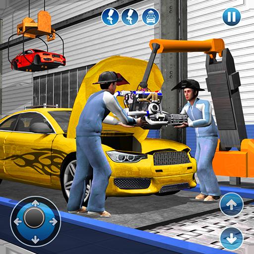 Sport Auto Hersteller Fabrik 2018: Auto Mechaniker Simulator & Auto Erbauer Spiele - Sport-spiele Kostenlose