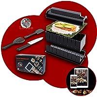 luspo Le Sushi Maker Moules à Sushi Maki Complet + 50 Recettes Offertes| avec Couteau Expert A Sushi| 12 Pièces| Vous…