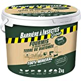 BARRIERE A INSECTES GREEN Anti-fourmis et Autres Rampants, Terre de Diatomée, Intérieur et extérieur, Seau 2 kg