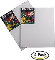 "Brustro Canvas Board Medium Grain 8""X10"" (Pack of 4)"