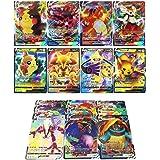 RULY Cartes Pokémon 100Pcs (40 VMAX-Carte+60 V-Carte), Cartes Flash Pokemon V Vmax, Jeu de Cartes de Bataille interactif, pou