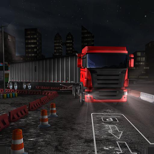 driver-di-parcheggio-del-camion-di-notte-3d