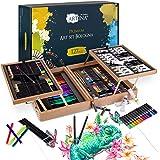 Artina Set de peinture de 127 pièces avec peintures acryliques Bologne - Coffret artistique noble - Set de peinture avec cray