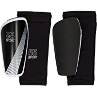 55 Sport Vortex Pro Protective Football Shin Guards with Compression Sleeve