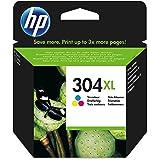 HP N9K07AE 304XL Original Bläckpatron, Hög Kapacitet, Trefärgad