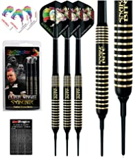 Red Dragon Peter Wright Snakebite Brass Darts Inklusive Flights, Shafts und Case in Weicher Spitze und Stahlspitze
