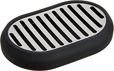 AmazonBasics Stainless Steel Soap Dish - Black