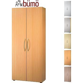 Büroschrank aus holz  Bümö® Aktenschrank aus Holz | Büroschrank für Aktenordner ...