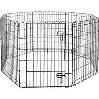 AmazonBasics Foldable Metal Pet Dog Exercise Fence Pen With Gate - 60 x 60 x 30 Inches