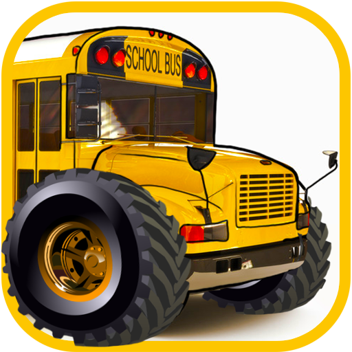 Monster truck school bus driving games for kids: Traffic racing simulator in the city (Kostenlose Monster Bus)