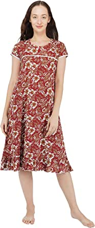 Artemis Women's Printed Night Gown/Short Nighty