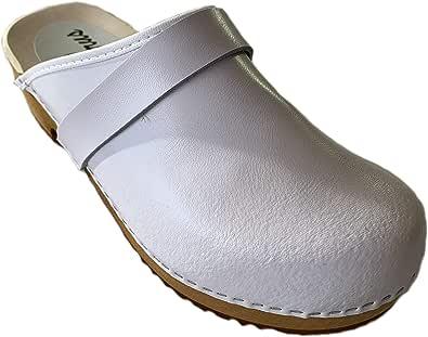 GreenPyrus 064 Zoccoli Sabot Pantofole Scarpe Pelle, Donna