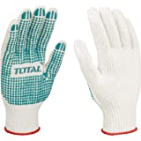 Total Gloves With Knitted & Pvc Dots