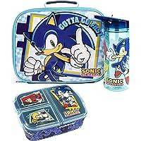 Sonic The Hedgehog Brotdose Set Kinder (Tasche, Wasserflasche, Snacktopf) Einheitsgröße