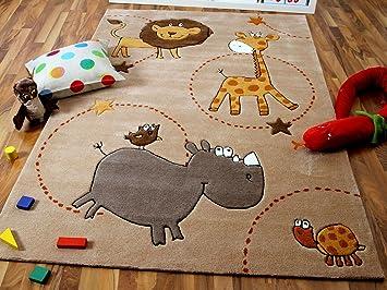lifestyle kinderteppich beige zoo !!! sofort lieferbar !!!: amazon ... - Kinder Teppich Beige Gelb