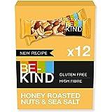BE-KIND Honey Roasted Nuts & Sea Salt – Barres de fruits à coque sans gluten – Pack de 12 barres- 480g