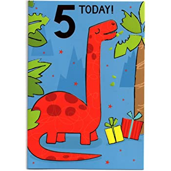 Birthday Card For Five 5 Year Old Boy