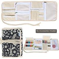 Teamoy étui de Rangement pour Aiguilles à Crochet et Accessoires - Petit Sac d'Organisateur pour kit de Tricot, Léger et…