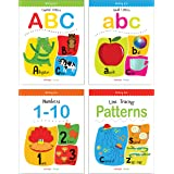 Writing Practice Boxset: Pack of 4 Books (Writing Fun: Write and Practice Capital Letters, Small Letters, Patterns and Number