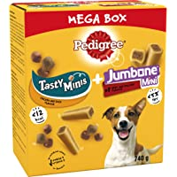 Pedigree Mega Box - Dog Treat Multipack with 3 Tasty Minis Chicken and Duck Flavour and 8 Jumbone Mini Beef and Poultry…