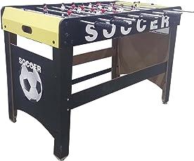 CloudNine Soccer Game/Foosball Table with 8 Rods (BigFoosball, Black)