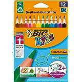 BIC Kids Evolution Triangle ECOlutions Lápices de colores Triangulares - Multicolor, Blíster de 12 unidades