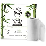 The Cheeky Panda Naturally Sustainable - Rotolo da cucina senza plastica, 100% bambù, confezione da 2, ecologico, biodegradab