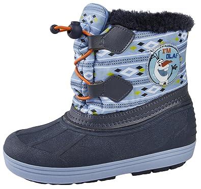 8b7332cf80fe Boys Disney Frozen Olaf Snow Boots Waterproof Olaf Rain Wellies Kids Warm Winter  Size  Amazon.co.uk  Shoes   Bags