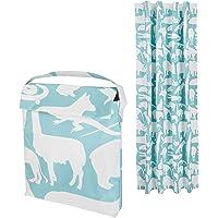 Amazon Basics Rideau opaque de voyage à ventouses pour enfant - couleur sarcelle, motif zoo