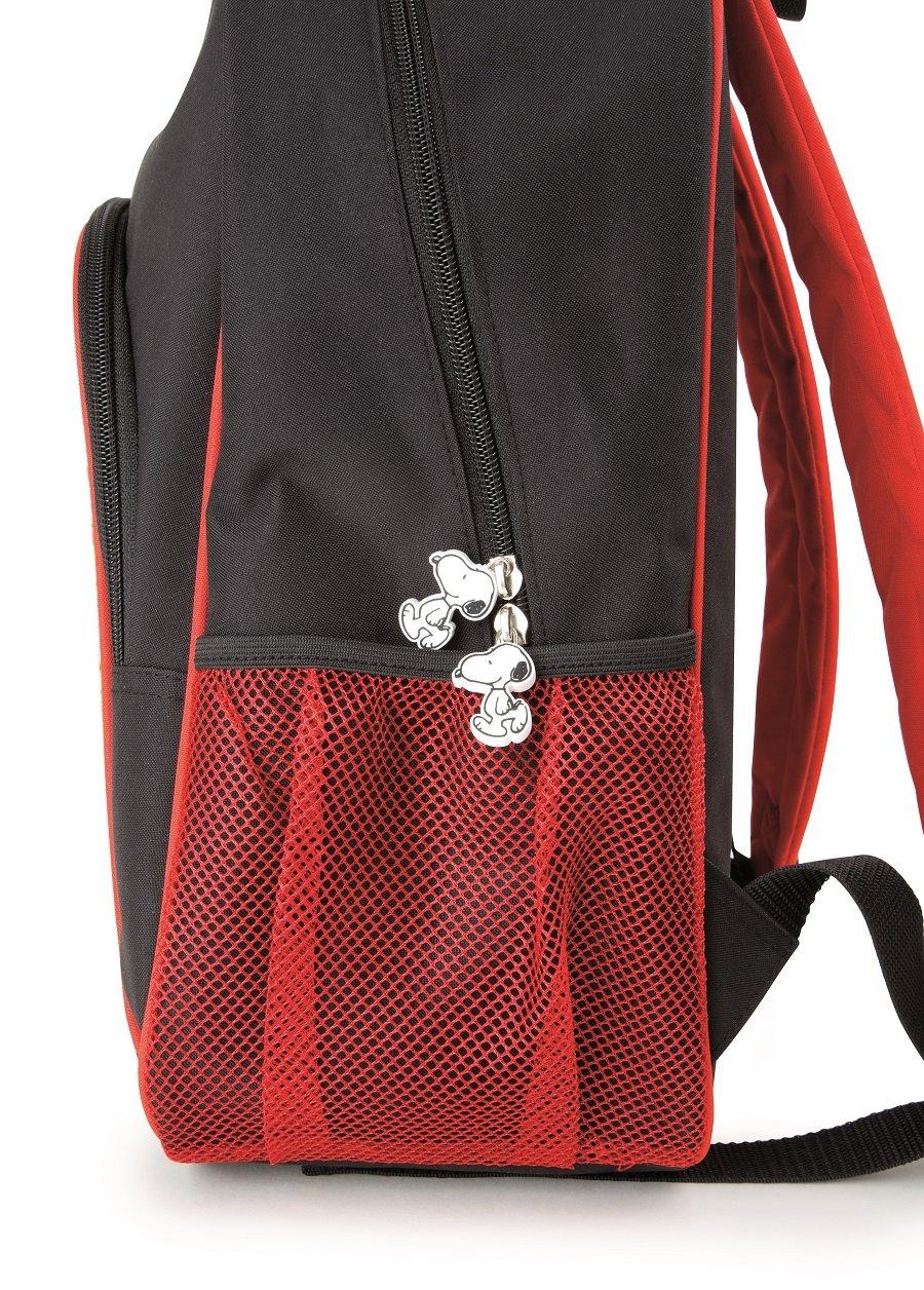 8150iZJcjjL - Mochila escolar Snoopy para niños mochila mochila escolar | incluye dos bolsillos de malla a los lados y mucho espacio de almacenamiento | acolchado óptimo de las correas de transporte | tamaño aprox