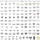 118 قطعة خواتم ستيل طراز فينتاج بتصميم مجوف قابلة للتكديس للنساء من اف بي اس او