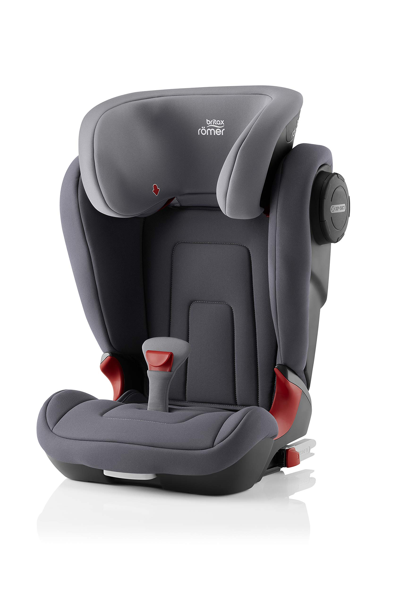 Britax Römer KIDFIX² S Group 2-3 (15-36kg) Car Seat - Storm Grey  Advanced side impact protection - sict offers superior protection to your child in the event of a side collision. reducing impact forces by minimising the distance between the car and the car seat. Secure guard - helps to protect your child's delicate abdominal area by adding an extra - a 4th - contact point to the 3-point seat belt. High back booster - protects your child in 3 ways: provides head to hip protection; belt guides provide correct positioning of the seat belt and the padded headrest provides safety and comfort. 1