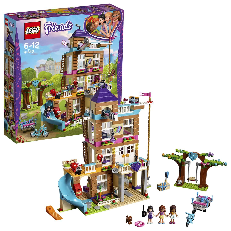 LEGO Friends Heartlake – Casa de la Amistad, Juguete de Construcción de Casa de Muñecas con Olivia, Emma, Andrea para Juegos Creativos (41340)