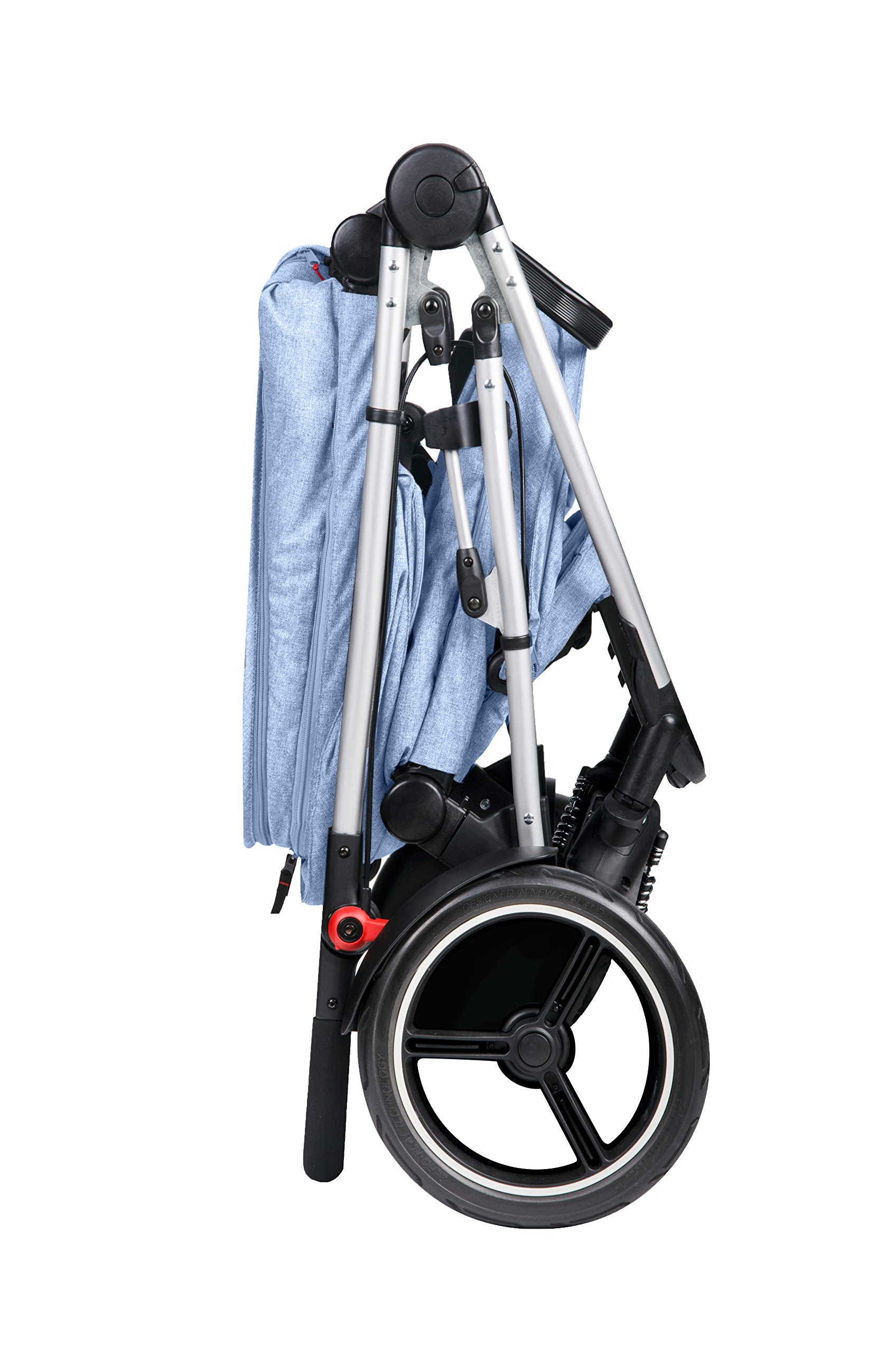 phil&teds Voyager Buggy Pushchair, Blue phil&teds 4-in-1 modular seat with four modes: parent facing, forward facing, lay flat bassinet (on buggy) and free standing bassinet (off buggy) Revolutionary stand fold with 2 seats on Double kit easily converts to lie flat mode as well 6