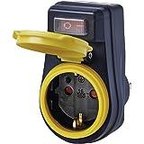 EMOS P00292 Prise de Courant d'extérieur avec Interrupteur IP44 étanche avec Capuchon de Protection pour l'extérieur 3680 W 2