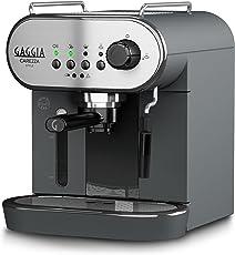 Gaggia ri8523/01freistehend halbautomatisch Espresso Maker 1.4L 2Tassen schwarz, Edelstahl–Kaffeemaschine (freistehend, gemahlener Espresso Maker, 1,4l, Dosis von Kaffee, Kaffee, 1900W, Schwarz, Edelstahl)