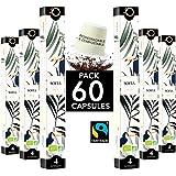 ORIGEENS Capsules Nespresso Compatible | Café BIO Fairtrade Arabica Décaféiné sans solvant SOFIA | 60 Capsules Biodégradables