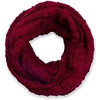 styleBREAKER sciarpa scaldacollo in maglia a quadri, sciarpa ad anello in maglia fine a tinta unita, sciarpa invernale…