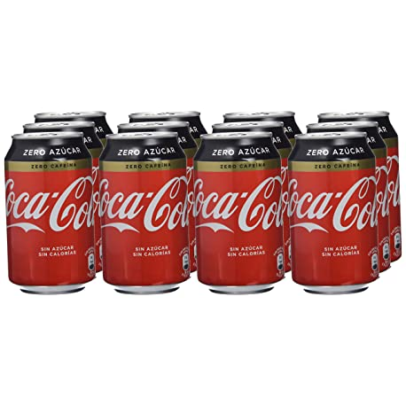 Coca Cola Zero Zero Refresco con gas de cola 330 ml Pack de 12 Lata