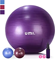 UMI. Essentials Pelota de Ejercicio Gym Ball para Fitness, Yoga, Pilates, Embarazo y Sentarse,65 or 75 cm