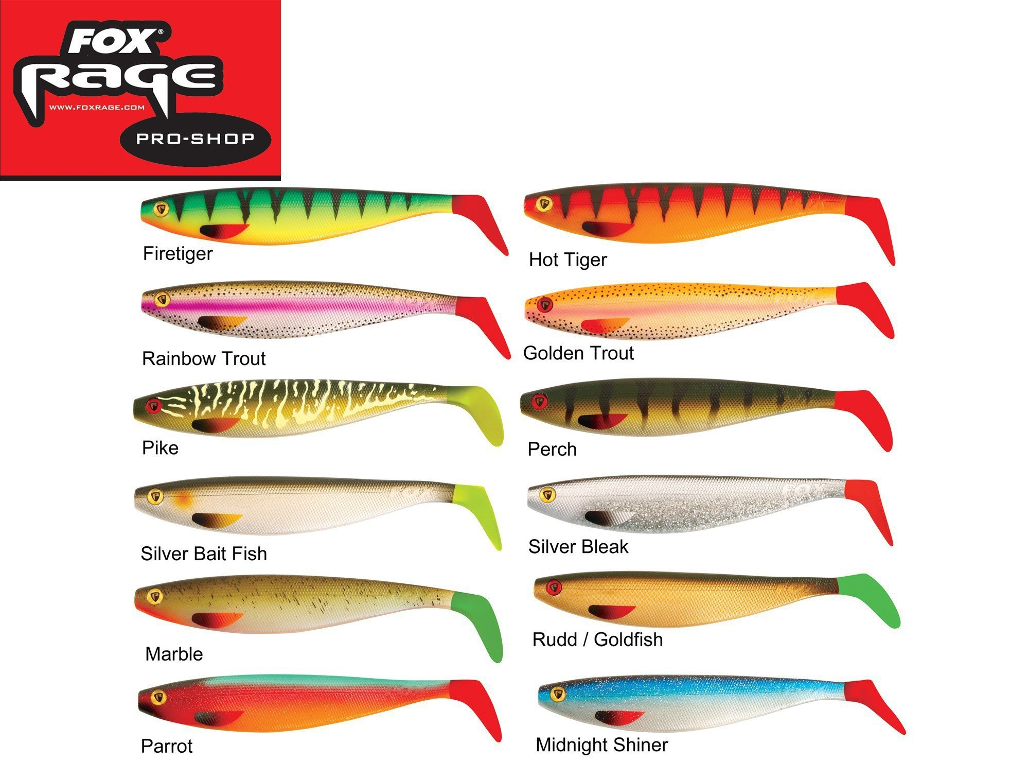Fox Rage LOADED NATURAL CLASSIC 2 PRO SHAD 14CM 15g