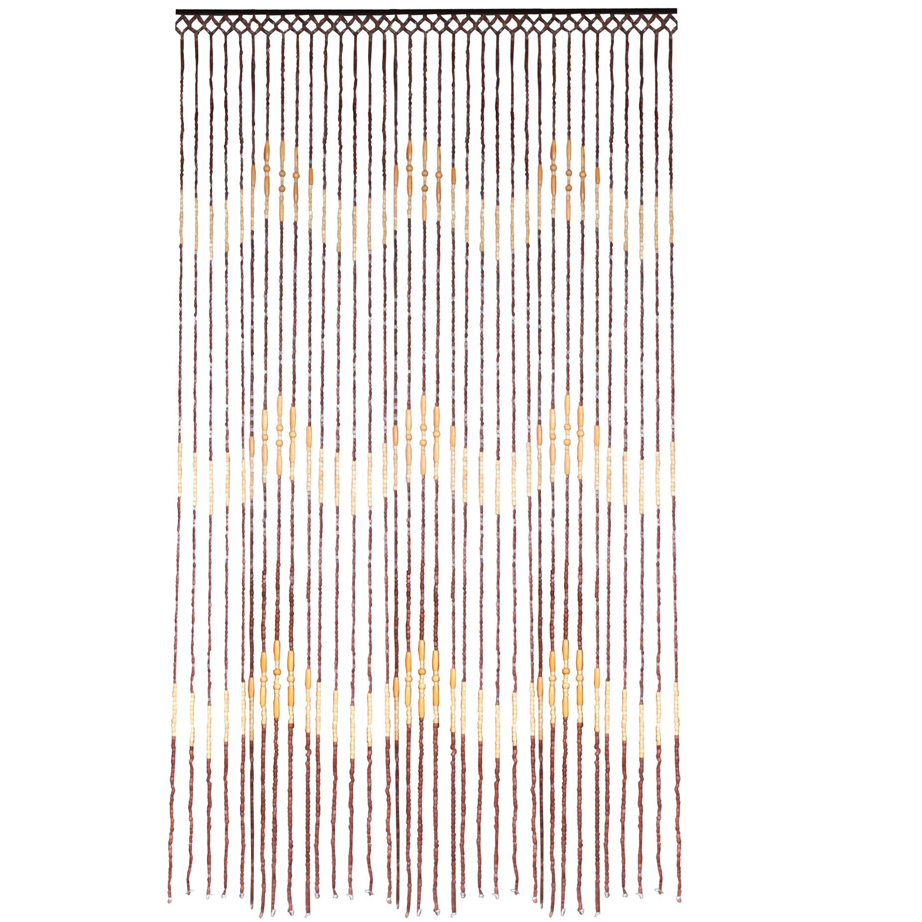 Jvl Tuscany Hanging Wooden Beaded Door Curtain Screen Waves 90 X 180 Cm Ebay