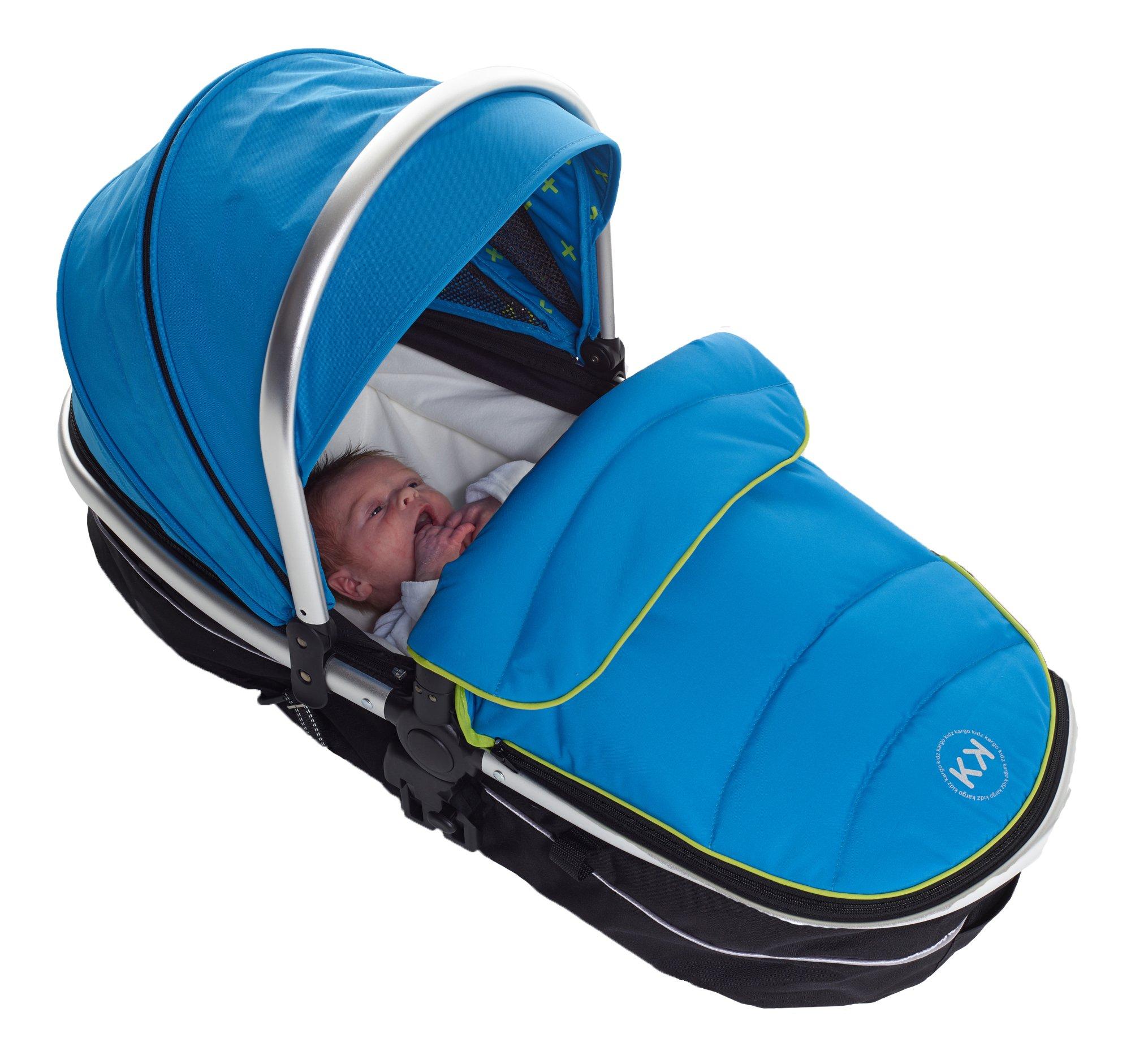 Kids Kargo Duellette 21 Combi Travel System Pram Double Pushchair (French Aqua)