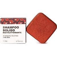 Shampoo Solido Bio Ristrutturante e Nutriente al Melograno, Fico e Te Verde - Enooso - 100% Artigianale Biologico…
